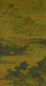 Ming dynasty (1368–1644). Tang Yin (1470–1523). Illustration of Farming Maxims. Ink on silk.  Image courtesy of Suzhou Museum.