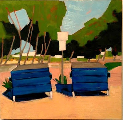 "Kevin Inman's ""Dumpsters at at Sunset Cliffs Parking Area,"" 2016."